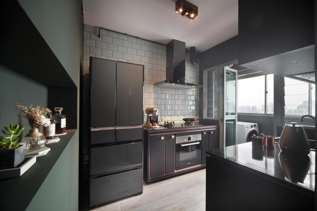 Eclectic, HDB, Kitchen, Bendemeer Road (Block 10A), Interior Designer, The Scientist, Industrial, Indoors, Interior Design, Appliance, Electrical Device, Oven