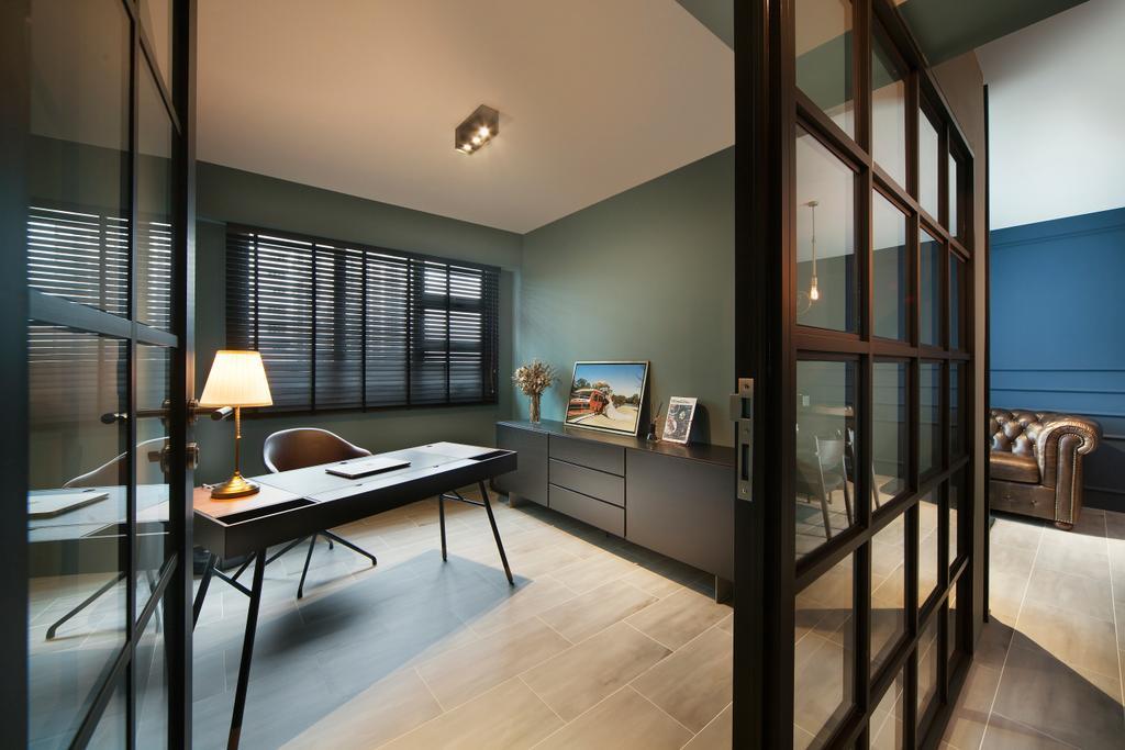 Eclectic, HDB, Study, Bendemeer Road (Block 10A), Interior Designer, The Scientist, Industrial, Chair, Furniture, Indoors, Interior Design