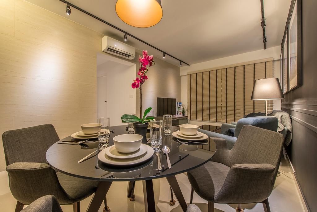 Contemporary, HDB, Dining Room, Edgefield Plains, Interior Designer, Hall Interiors, Chair, Furniture, Dining Table, Table, Indoors, Interior Design, Room