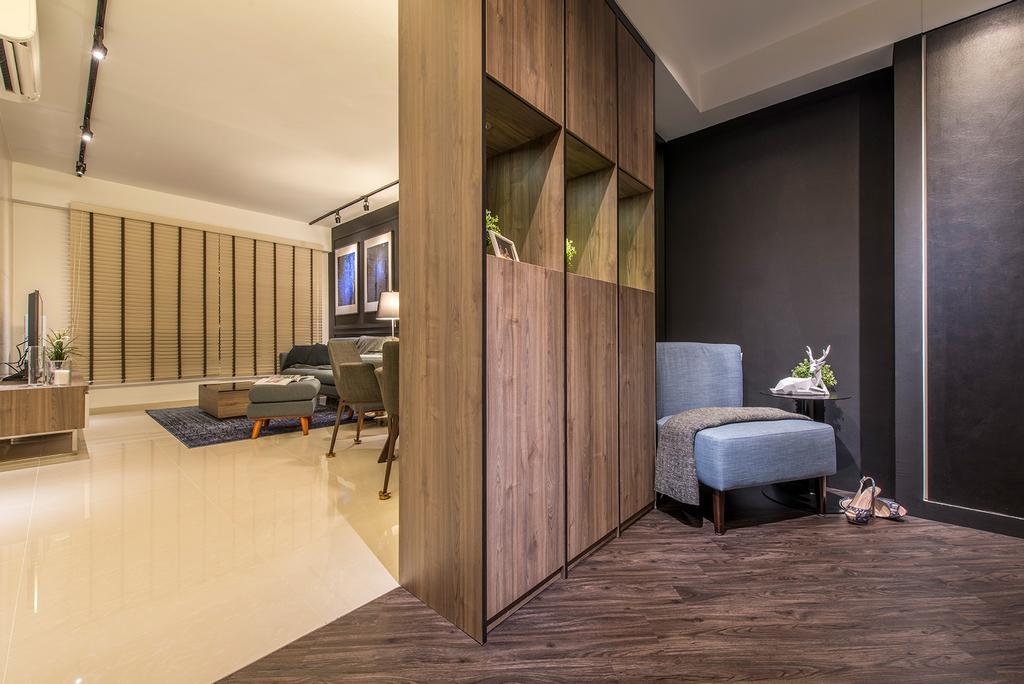 Contemporary, HDB, Living Room, Edgefield Plains, Interior Designer, Hall Interiors, Flooring, Indoors, Interior Design