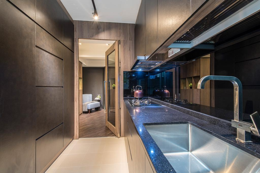 Contemporary, HDB, Kitchen, Edgefield Plains, Interior Designer, Hall Interiors