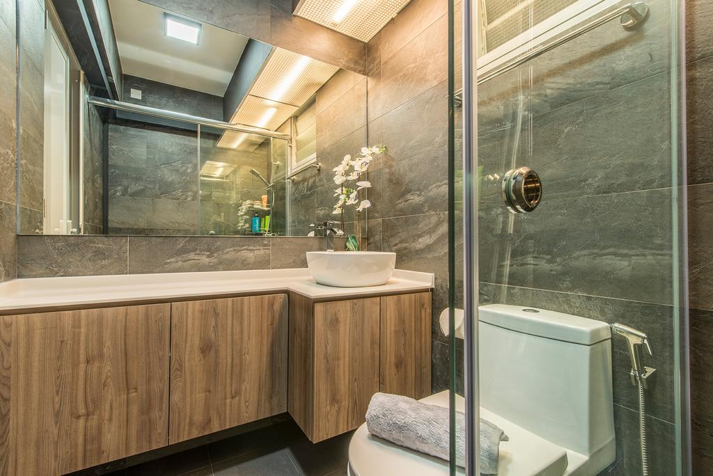 Contemporary, HDB, Bathroom, Edgefield Plains, Interior Designer, Hall Interiors, Indoors, Interior Design, Room
