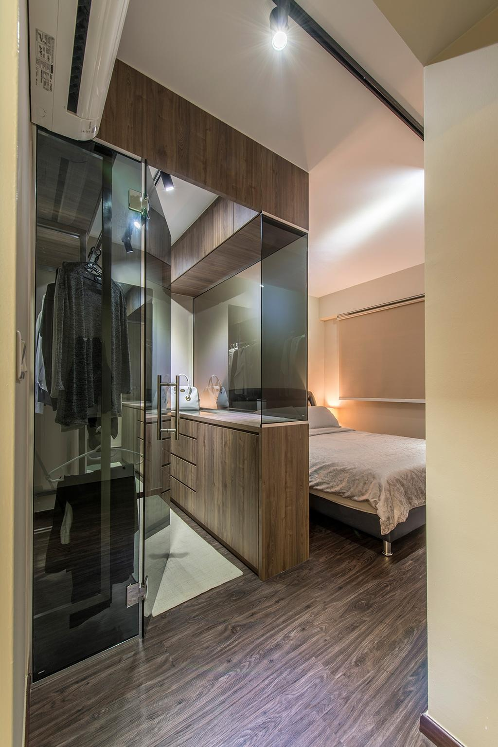 Contemporary, HDB, Bedroom, Edgefield Plains, Interior Designer, Hall Interiors
