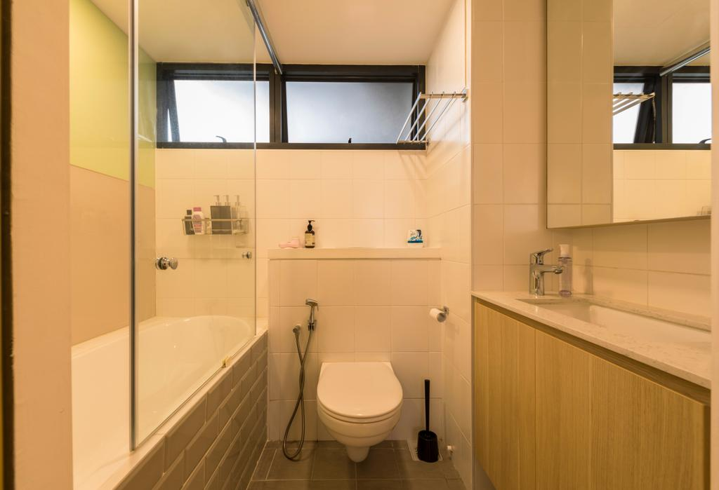 Minimalistic, HDB, Bathroom, Sky Terrace @ Dawson, Interior Designer, Create, Toilet, Indoors, Interior Design, Room