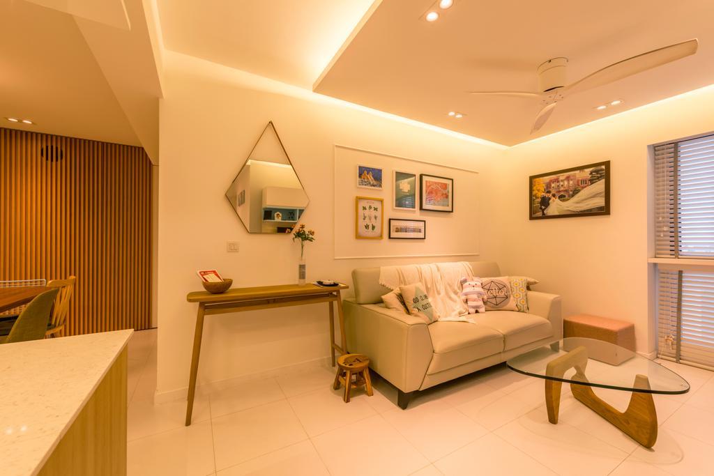 Minimalistic, HDB, Living Room, Sky Terrace @ Dawson, Interior Designer, Create, Coffee Table, Furniture, Table