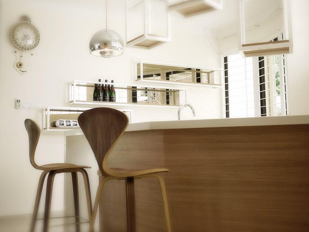 Minimalistic, Landed, Dining Room, Jalan Pantai Molek (Penang), Interior Designer, Minterior Project Sdn Bhd, Chair, Furniture, Indoors, Interior Design, Room, Dining Table, Table, Light Fixture, Plywood, Wood
