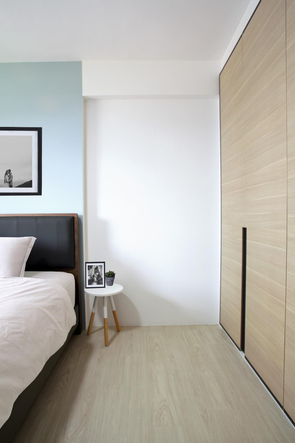 Minimalistic, HDB, Bedroom, Choa Chu Kang, Interior Designer, Intrigue-d Design Consultancy