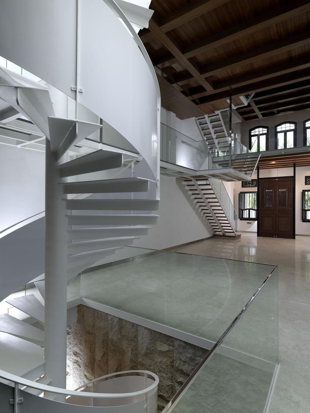Traditional, Landed, Emerald Hill Shophouse II, Architect, Visual Text Architects, Banister, Handrail, Staircase