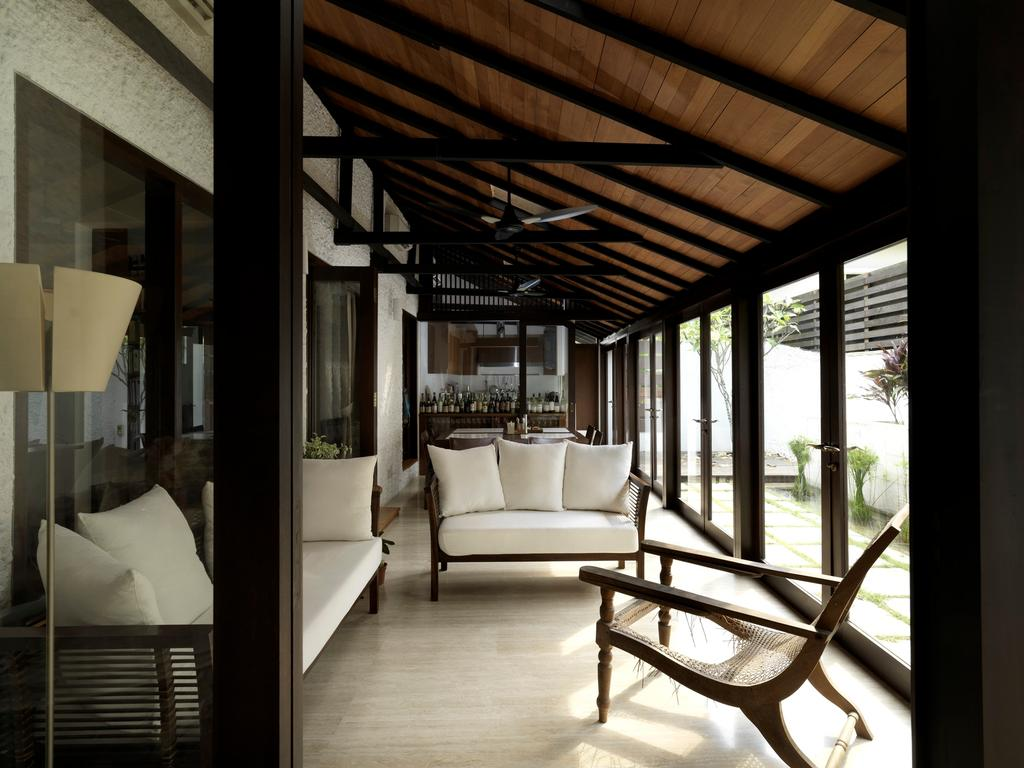 Traditional, Landed, Living Room, Binjai House, Architect, Visual Text Architects, Chair, Furniture