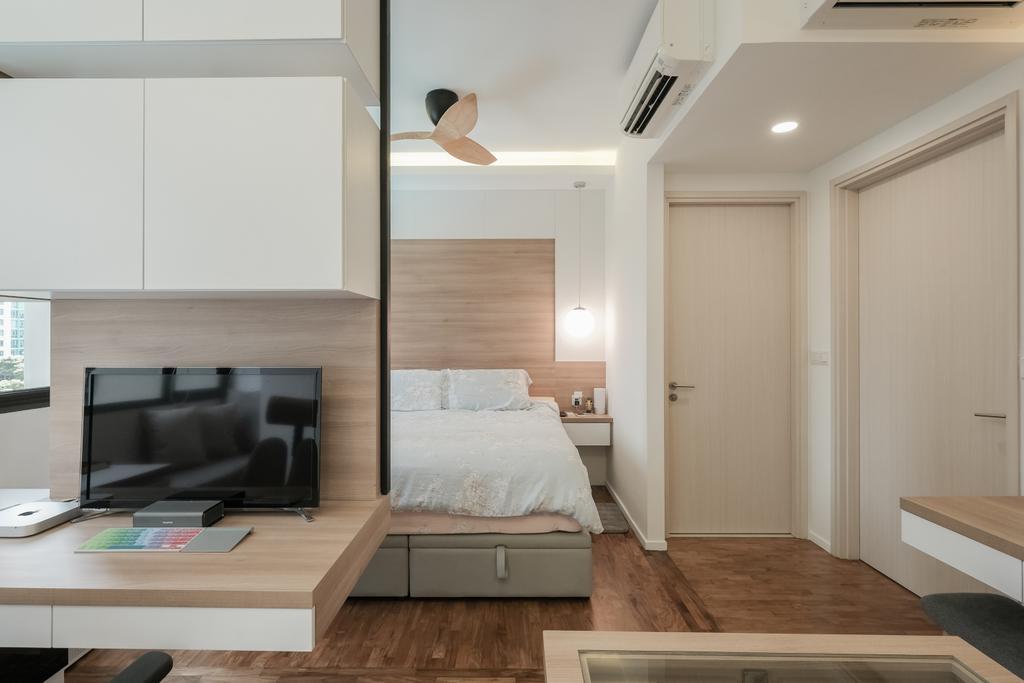 Modern, Condo, Study, The Amore, Interior Designer, Lemonfridge Studio, HDB, Building, Housing, Indoors, Electronics, Monitor, Screen, Tv, Television