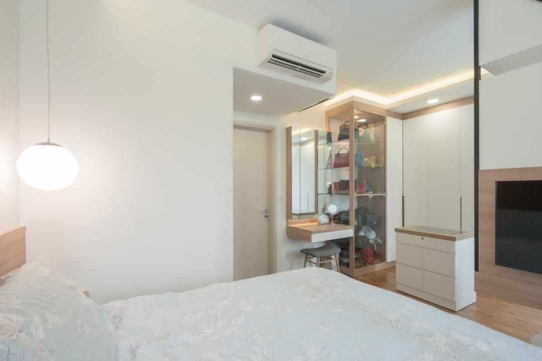 The Amore, Lemonfridge Studio, Modern, Bedroom, Condo, Air Conditioner, Indoors, Interior Design, Room, Lighting
