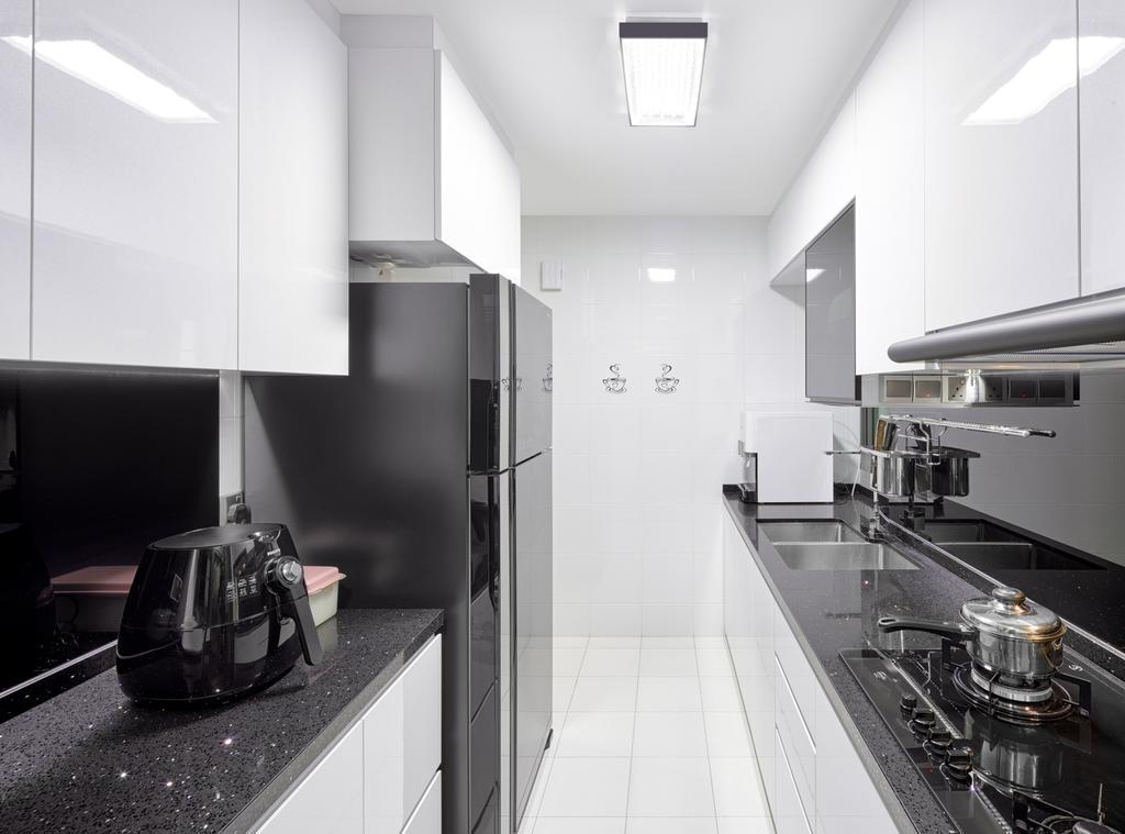 Modern, HDB, Kitchen, Skyville @ Dawson (Block 88), Interior Designer, Absolook Interior Design, Collage, Poster, Building, Housing, Indoors, Loft