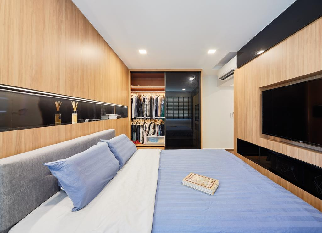 Modern, HDB, Bedroom, Clementi Avenue 4 (Block 312A), Interior Designer, Absolook Interior Design, Indoors, Room, Bed, Furniture