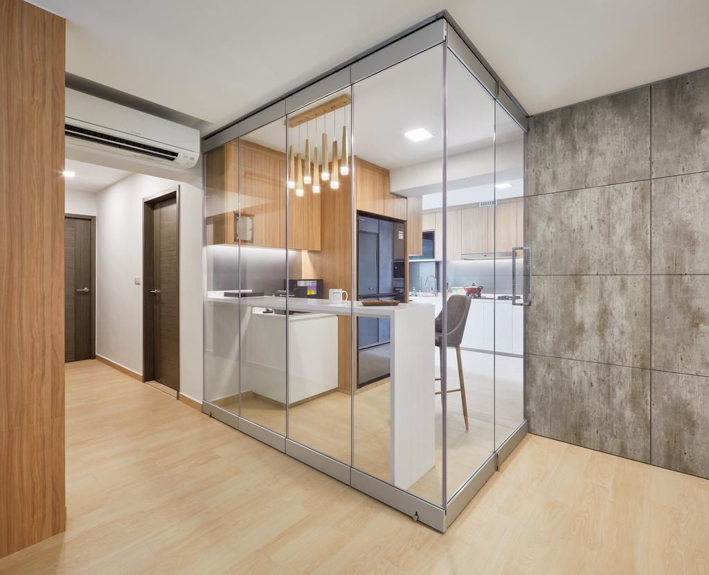 Modern, HDB, Dining Room, Clementi Avenue 4 (Block 312A), Interior Designer, Absolook Interior Design, Appliance, Electrical Device, Oven