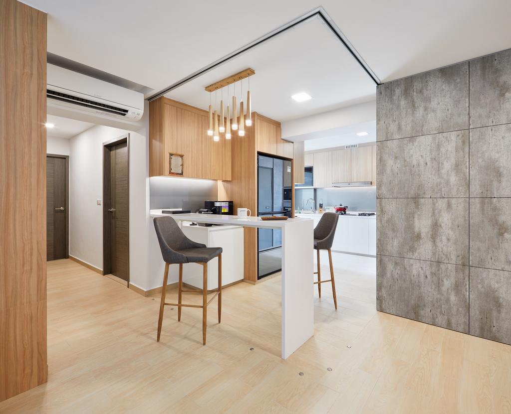 Modern, HDB, Dining Room, Clementi Avenue 4 (Block 312A), Interior Designer, Absolook Interior Design, Desk, Furniture, Table, Dining Table, Indoors, Interior Design