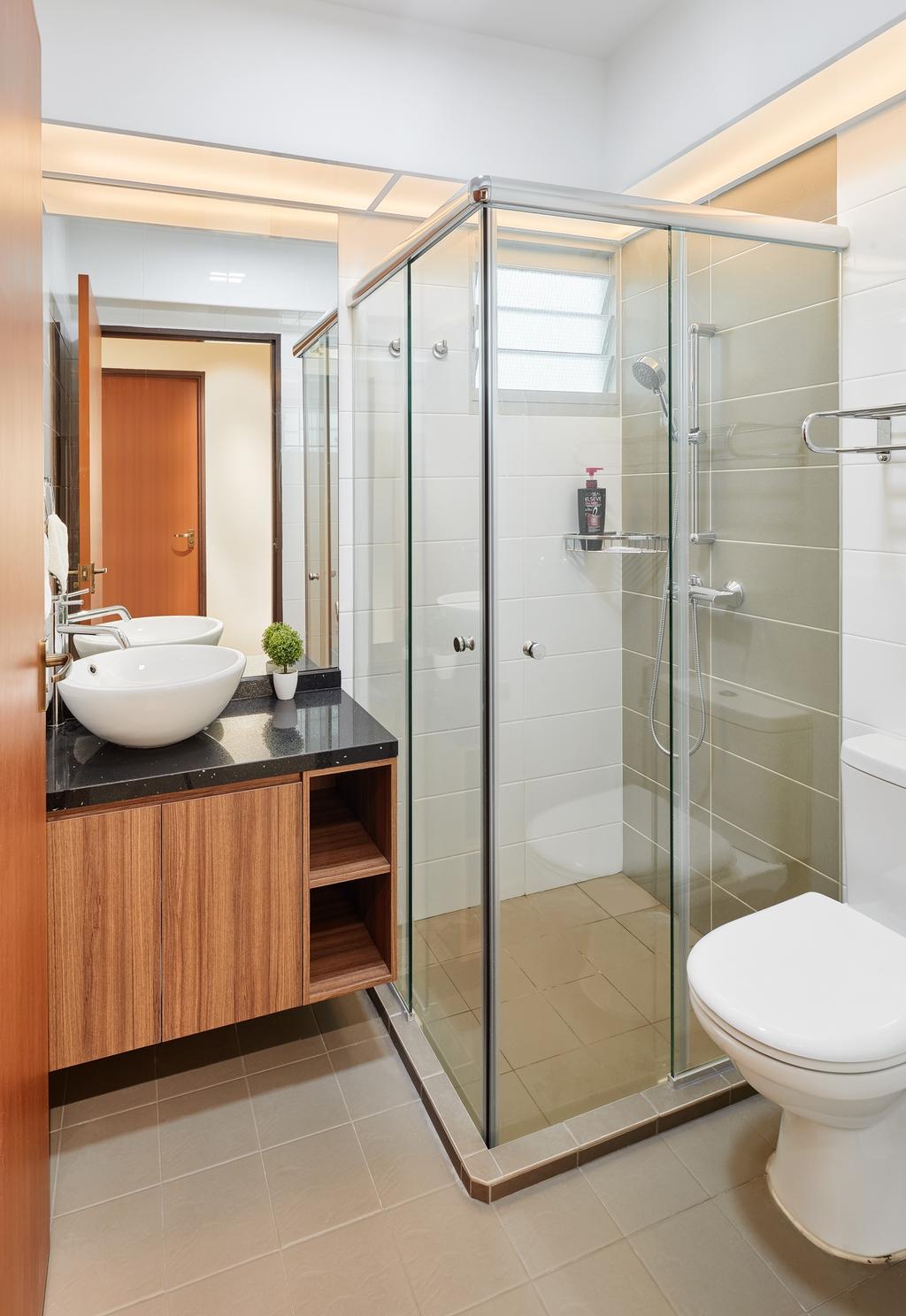 HDB, Bathroom, Boon Lay Avenue (Block 218B), Interior Designer, Absolook Interior Design, Indoors, Interior Design, Room