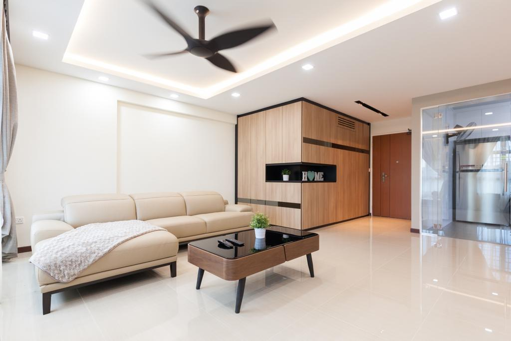 Modern, HDB, Living Room, Yishun Avenue 4, Interior Designer, Charlotte's Carpentry, Contemporary, Indoors, Interior Design, Furniture, Coffee Table, Room, Table
