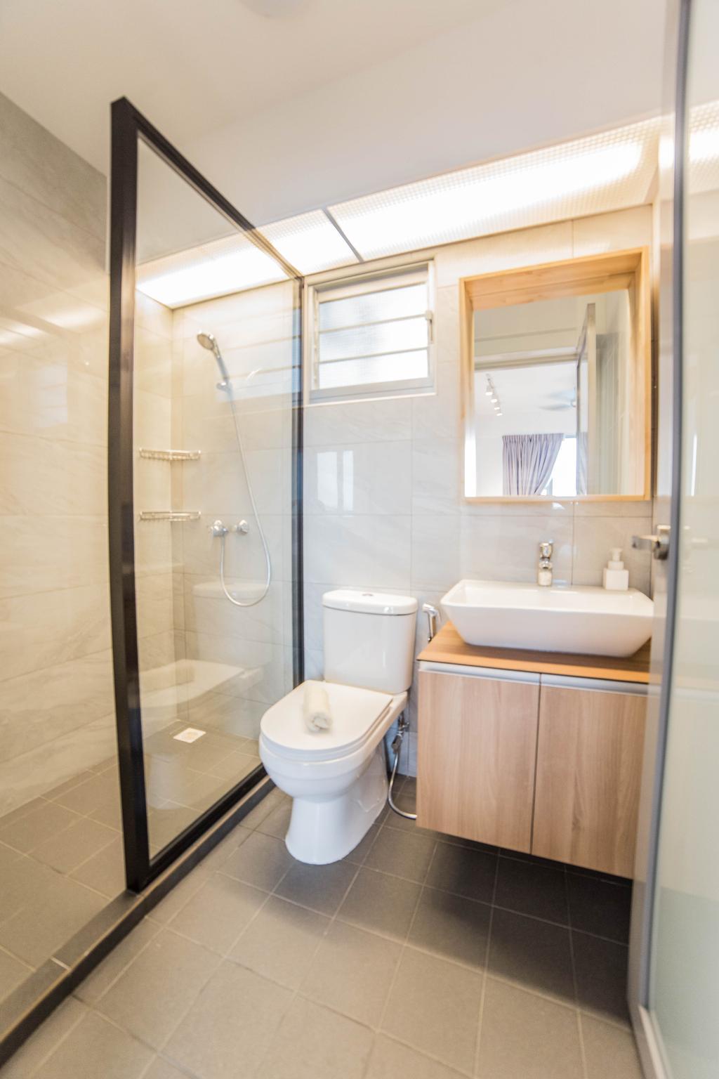 Scandinavian, HDB, Bathroom, Teck Ghee Parkview, Interior Designer, Luova Project Services, Minimalistic, Indoors, Interior Design, Room