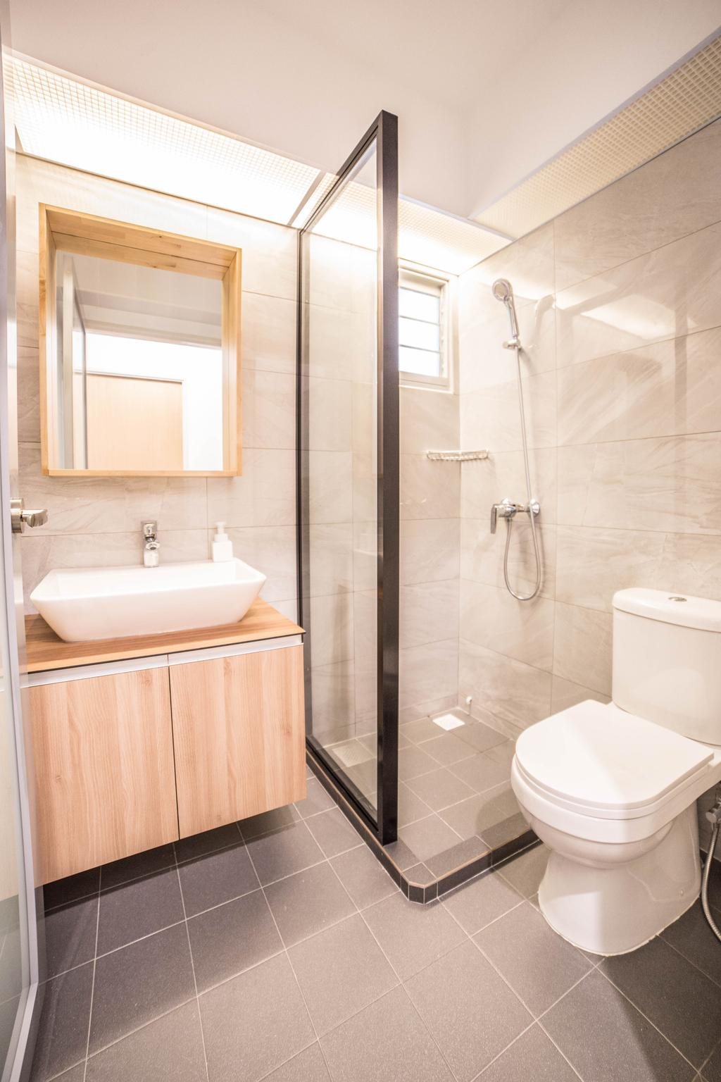 Scandinavian, HDB, Bathroom, Teck Ghee Parkview, Interior Designer, Luova Project Services, Minimalistic, Indoors, Interior Design, Room, Shower