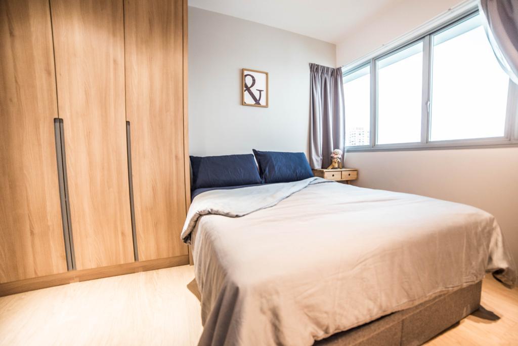 Scandinavian, HDB, Bedroom, Teck Ghee Parkview, Interior Designer, Luova Project Services, Minimalistic, Bed, Furniture, Indoors, Interior Design, Room