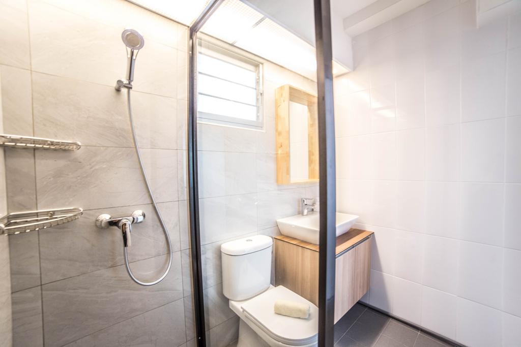 Scandinavian, HDB, Bathroom, Teck Ghee Parkview, Interior Designer, Luova Project Services, Minimalistic, Indoors, Interior Design, Room, Toilet