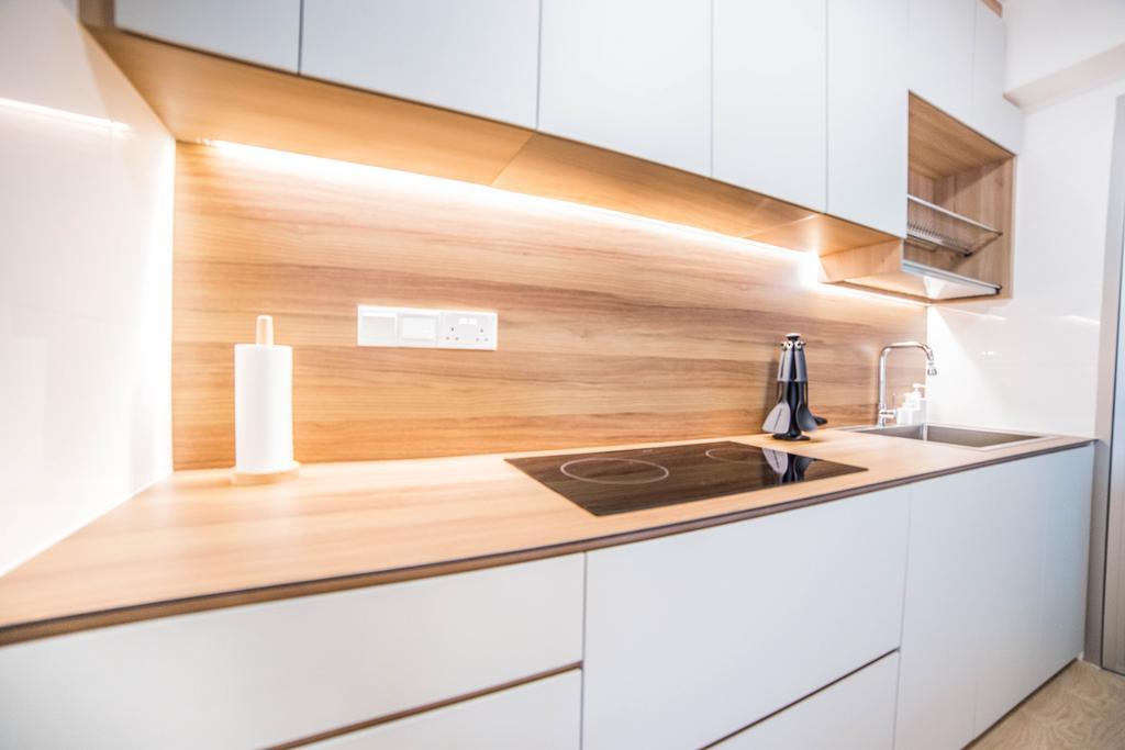 Scandinavian, HDB, Kitchen, Teck Ghee Parkview, Interior Designer, Luova Project Services, Minimalistic, Indoors, Interior Design