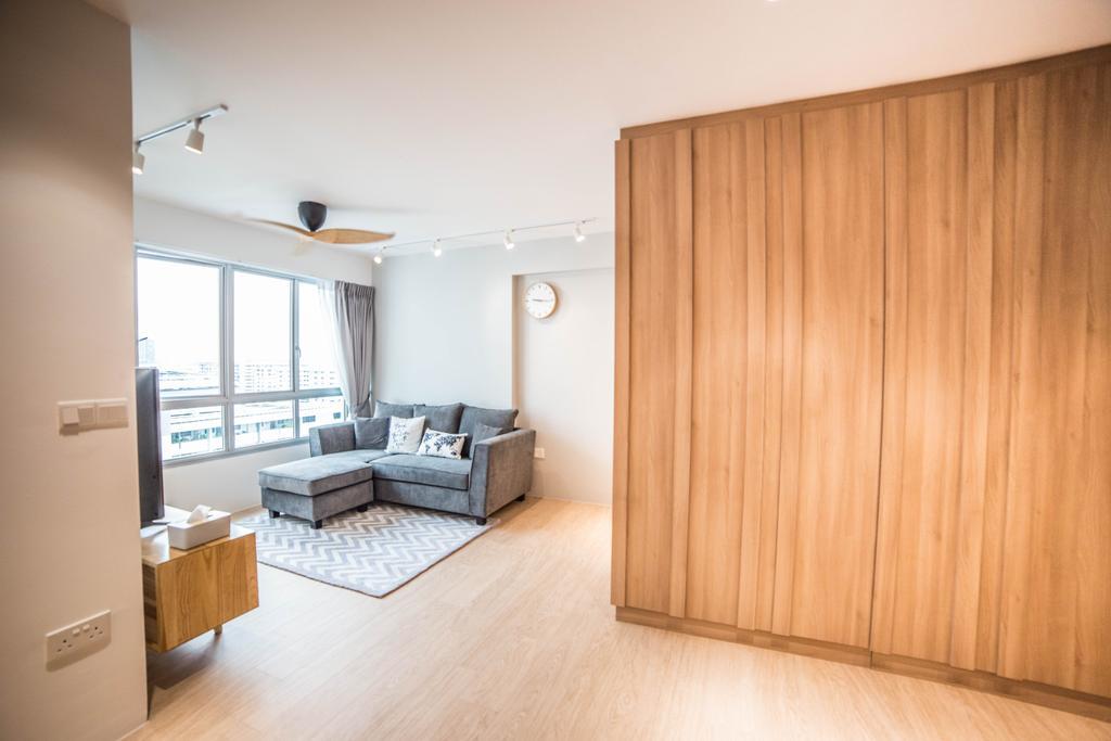 Scandinavian, HDB, Living Room, Teck Ghee Parkview, Interior Designer, Luova Project Services, Minimalistic, Indoors, Interior Design