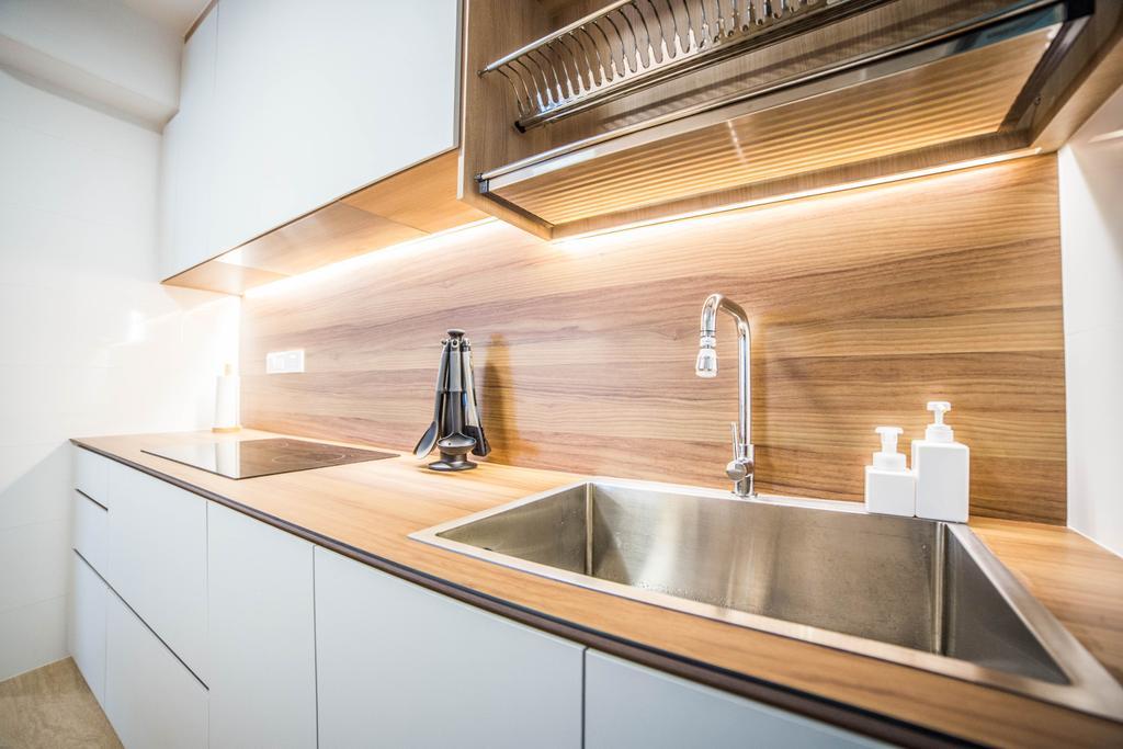 Scandinavian, HDB, Kitchen, Teck Ghee Parkview, Interior Designer, Luova Project Services, Minimalistic, Sink, Indoors, Interior Design