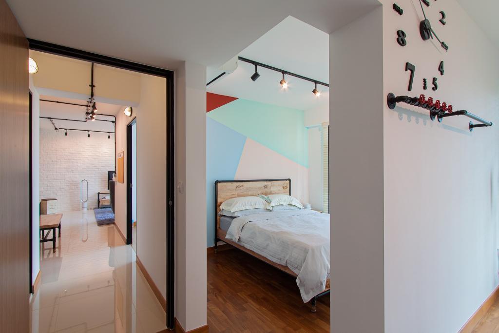 Modern, HDB, Bedroom, McNair Towers, Interior Designer, Luova Project Services, Industrial, Indoors, Interior Design, Room