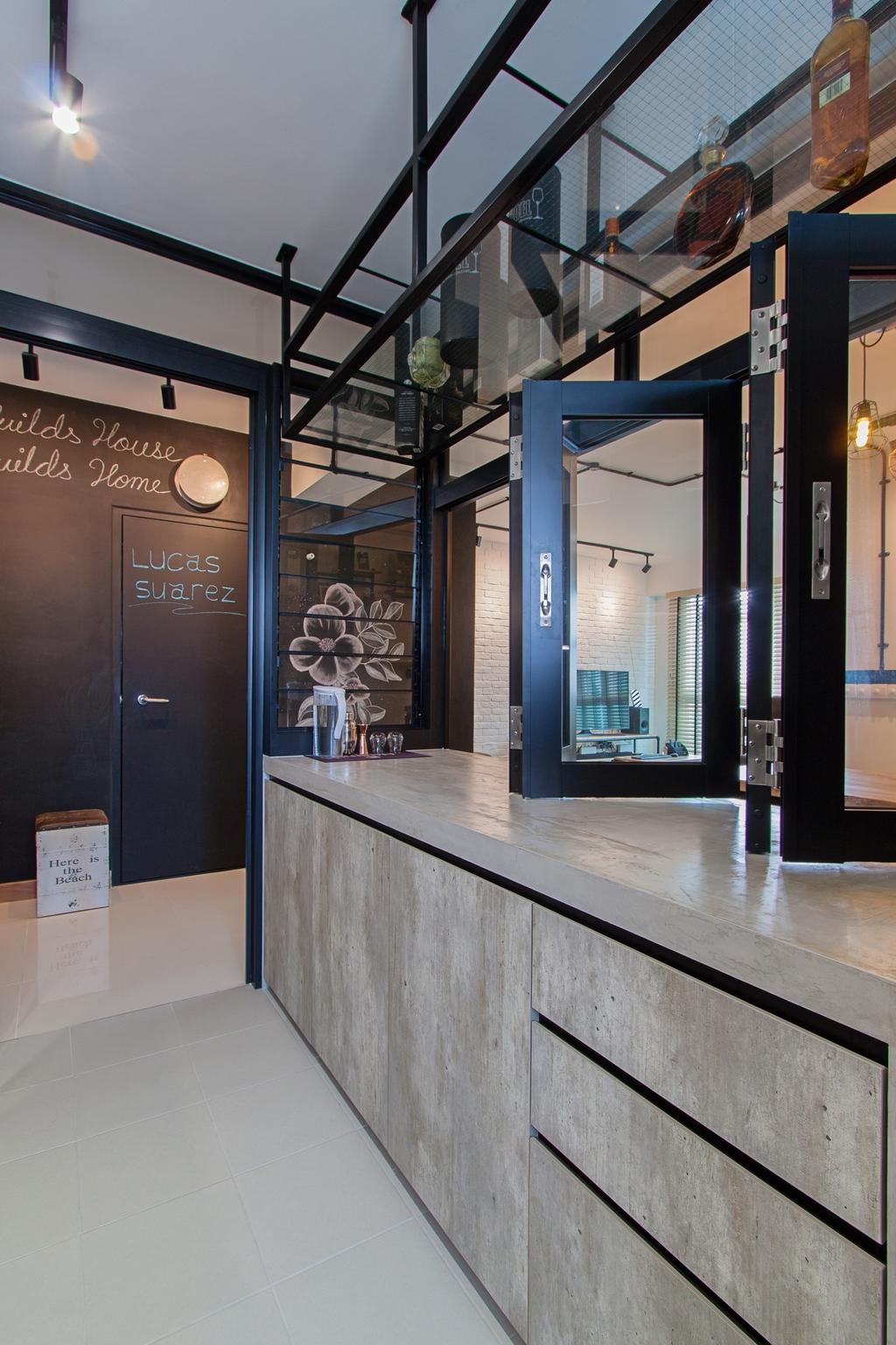 Modern, HDB, Kitchen, McNair Towers, Interior Designer, Luova Project Services, Industrial