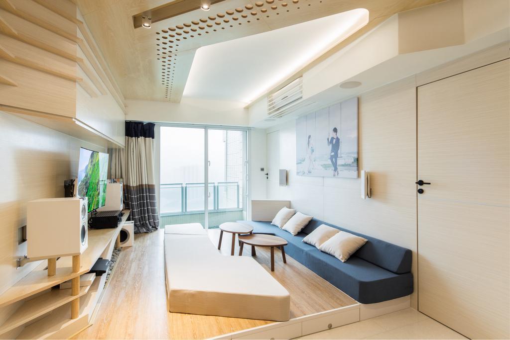 摩登, 私家樓, 客廳, 緻藍天, 室內設計師, MNOP Design, 當代, Indoors, Interior Design, Room