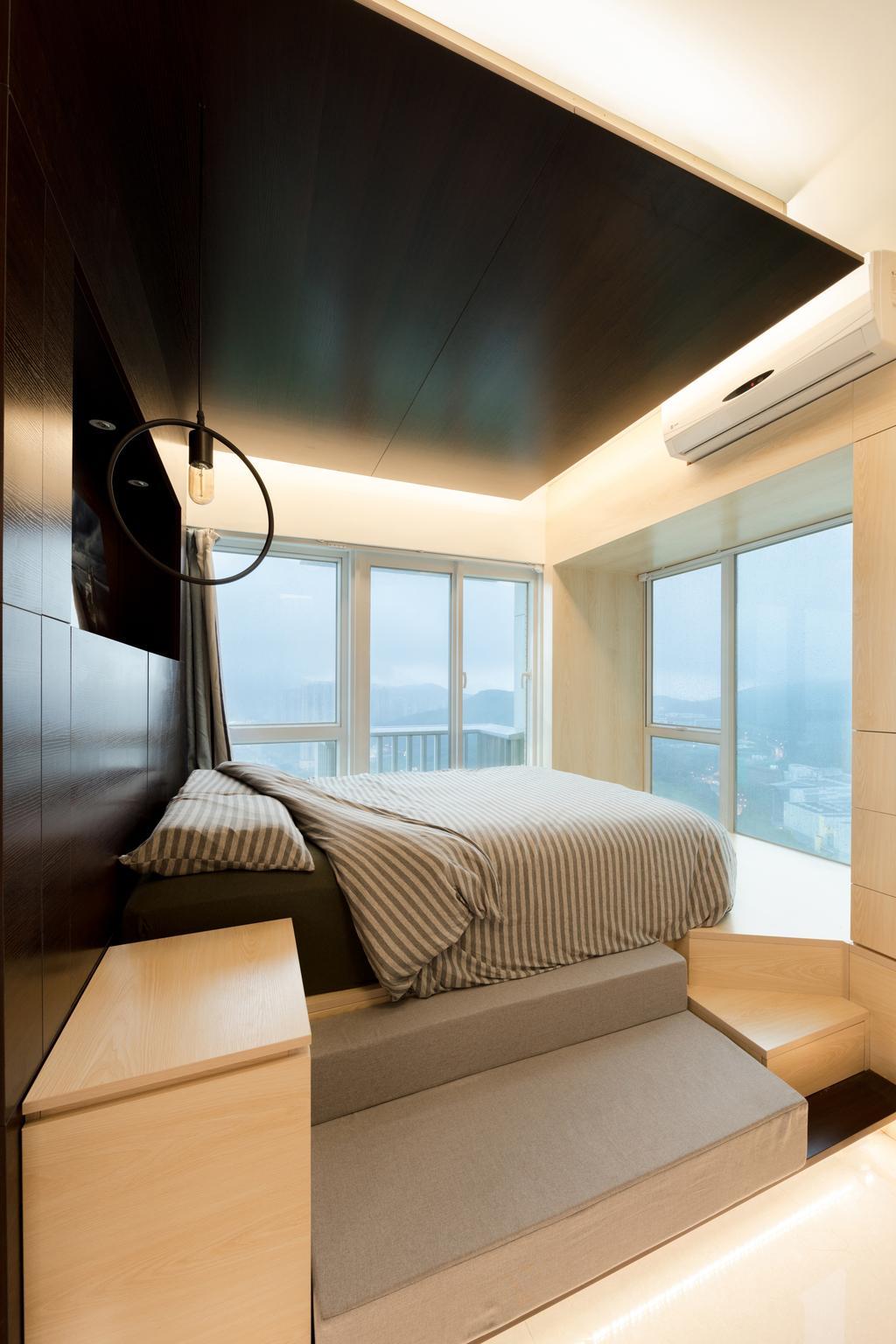 摩登, 私家樓, 睡房, 緻藍天, 室內設計師, MNOP Design, 當代
