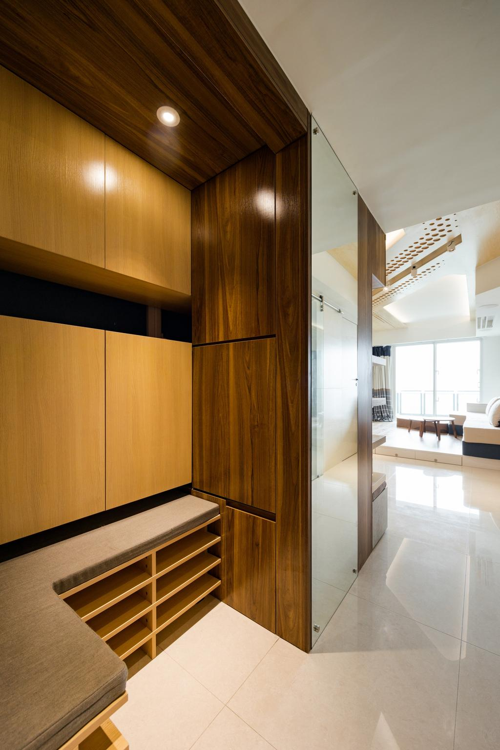 摩登, 私家樓, 客廳, 緻藍天, 室內設計師, MNOP Design, 當代, Indoors, Interior Design, Closet, Cupboard, Furniture