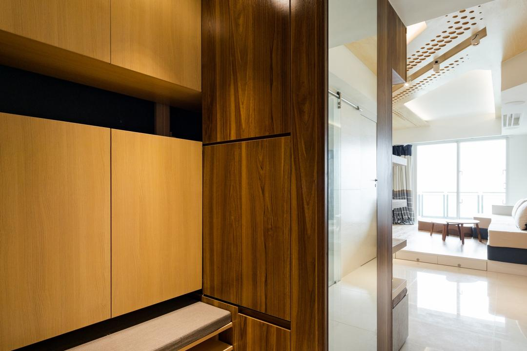 緻藍天, MNOP Design, 摩登, 當代, 客廳, 私家樓, Indoors, Interior Design, Closet, Cupboard, Furniture