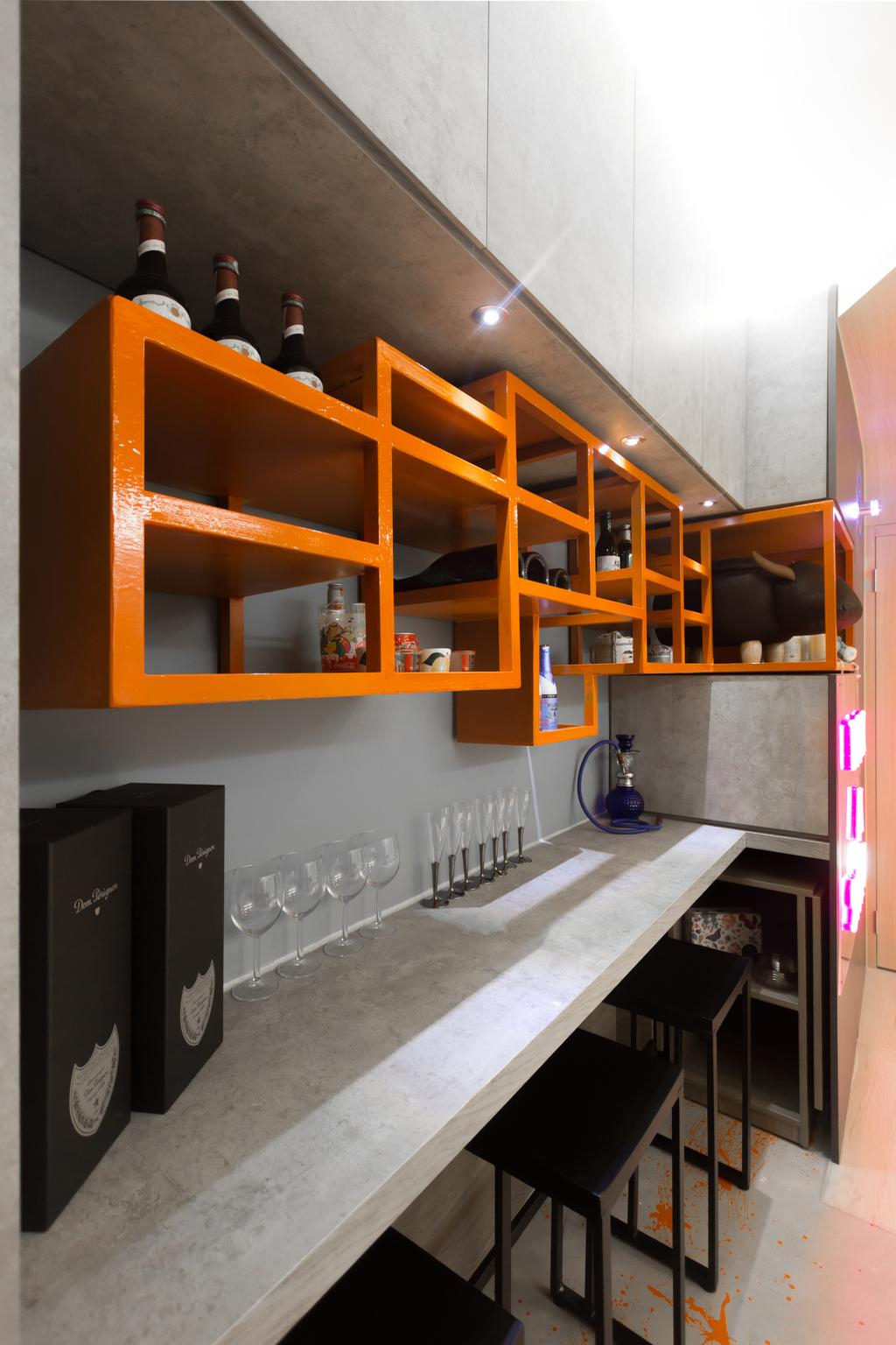 摩登, 私家樓, 客廳, 啟田大廈, 室內設計師, MNOP Design, 隨性, Bottle