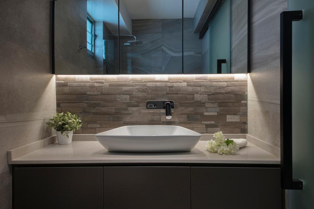 Modern, HDB, Bedroom, Punggol Drive, Interior Designer, KDOT, Contemporary