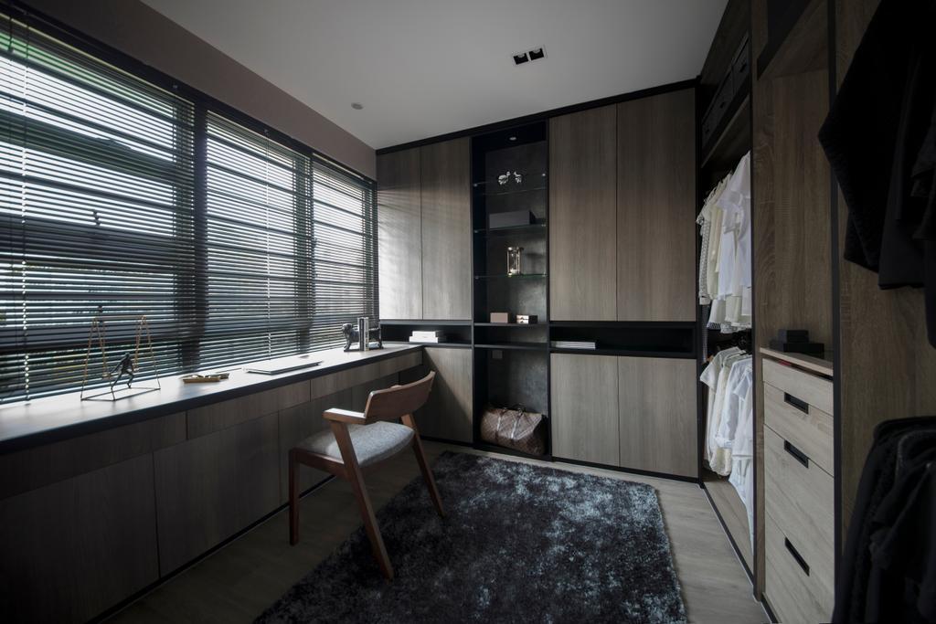Modern, HDB, Study, Punggol Drive, Interior Designer, KDOT, Contemporary, Chair, Furniture, Bedroom, Indoors, Interior Design, Room
