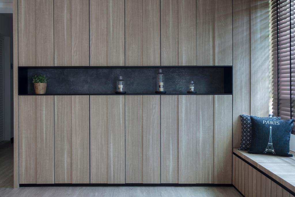 Modern, HDB, Living Room, Punggol Drive, Interior Designer, KDOT, Contemporary, Cosy Nook, Cosy Corner, Window Seat, Storage Seat