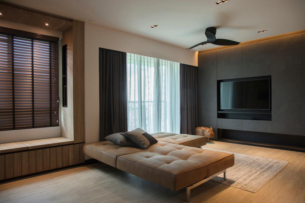 Modern, HDB, Punggol Drive, Interior Designer, KDOT, Contemporary, Indoors, Interior Design, Bedroom, Room, Appliance, Electrical Device, Microwave, Oven, Furniture