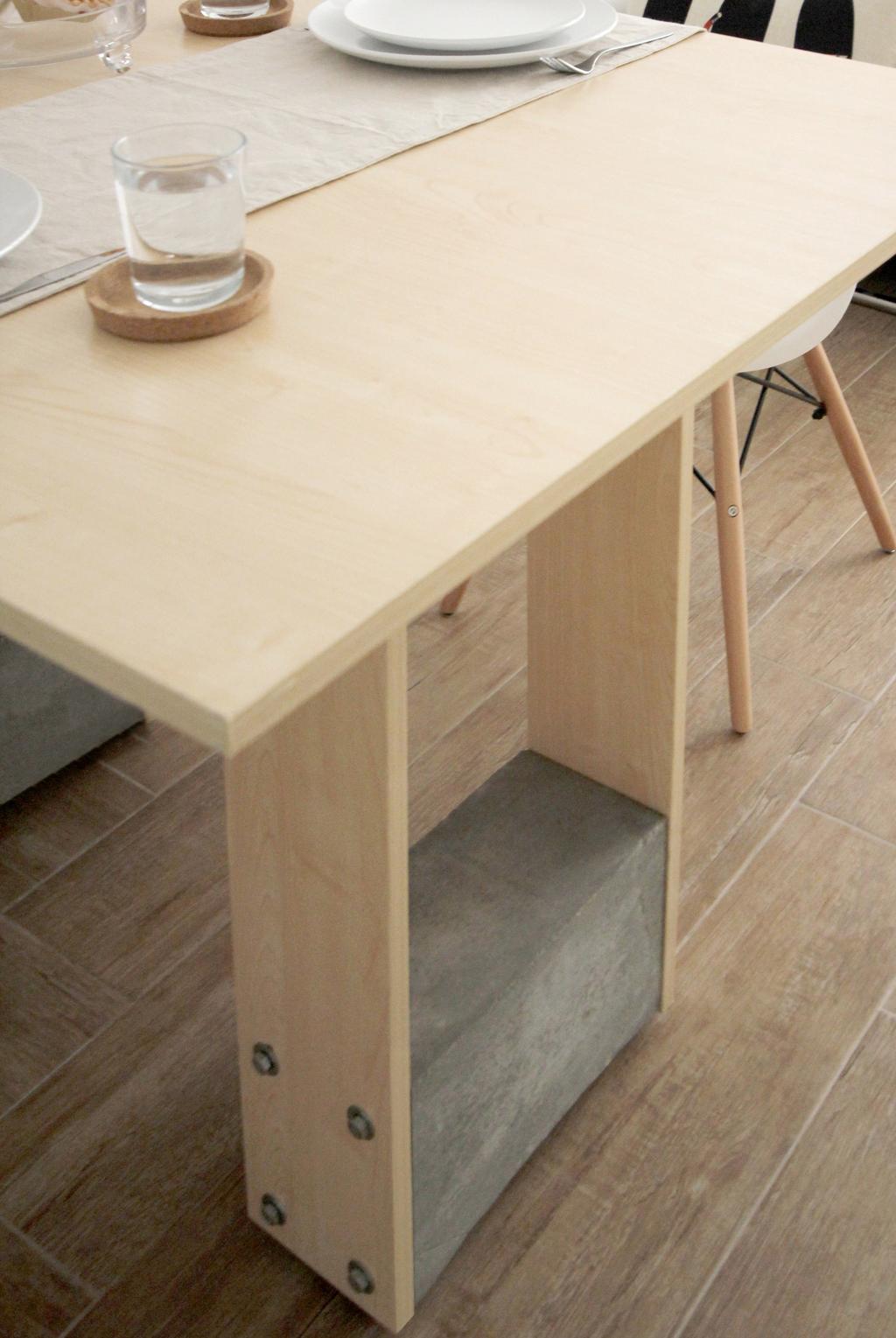 北歐, 公屋/居屋, 客廳, 寧峰苑, 室內設計師, MNOP Design, 簡約, Plywood, Wood, Dining Table, Furniture, Table