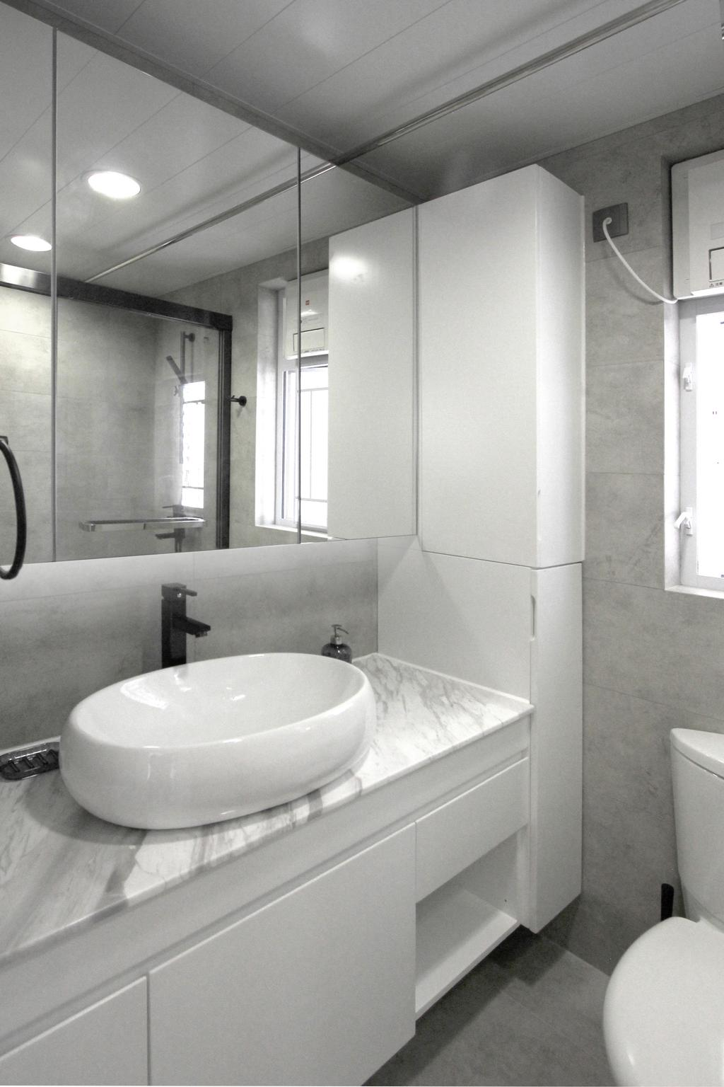 北歐, 公屋/居屋, 浴室, 寧峰苑, 室內設計師, MNOP Design, 簡約, Indoors, Interior Design, Room