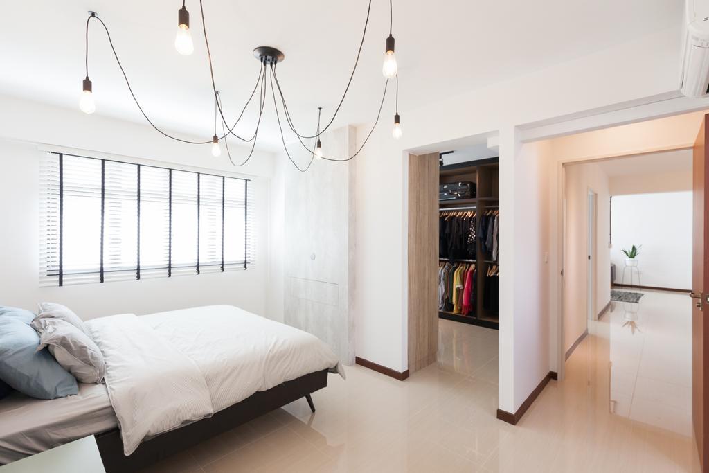 Scandinavian, HDB, Bedroom, Yishun Avenue 4, Interior Designer, Voila, Indoors, Interior Design, Room