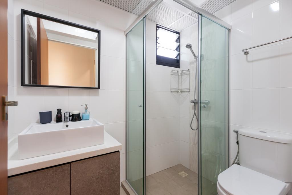 Scandinavian, HDB, Bathroom, Yishun Avenue 4, Interior Designer, Voila, Indoors, Interior Design, Room