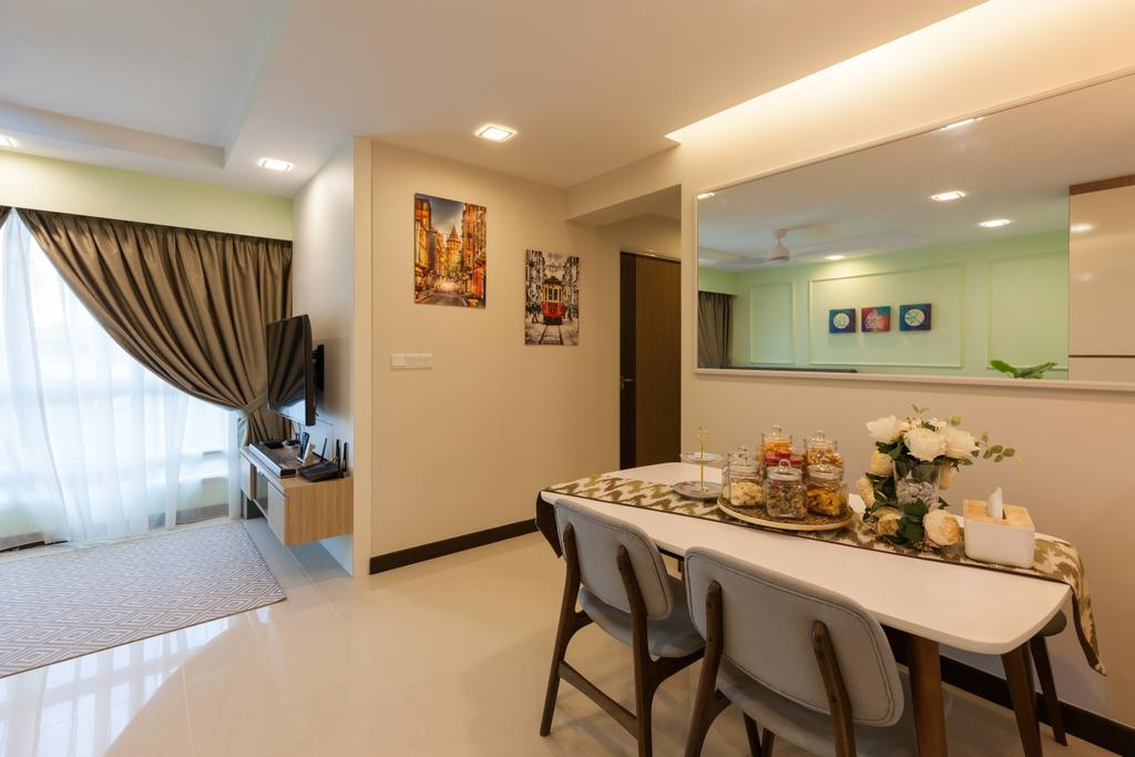 Modern, HDB, Dining Room, Bukit Batok, Interior Designer, New Age Interior, Dining Table, Furniture, Table, Sink, Indoors, Interior Design, Room, Chair, Appliance, Electrical Device, Oven