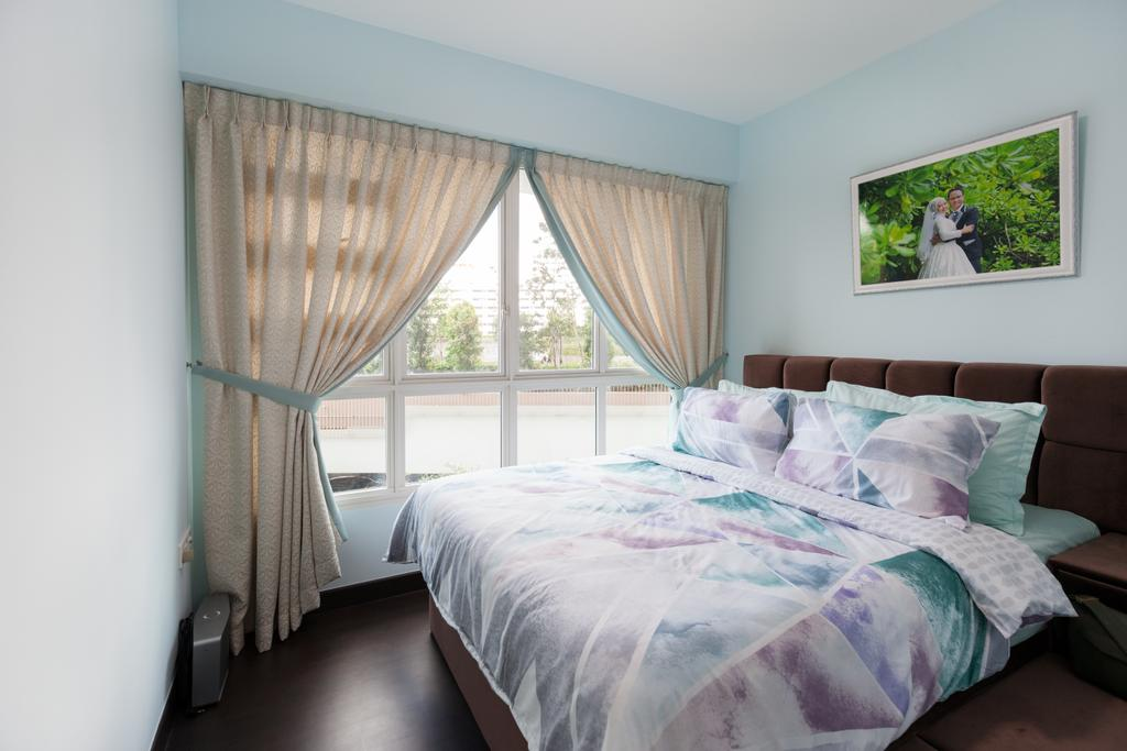 Modern, HDB, Bedroom, Bukit Batok, Interior Designer, New Age Interior, Balcony, Indoors, Interior Design, Room, Bed, Furniture