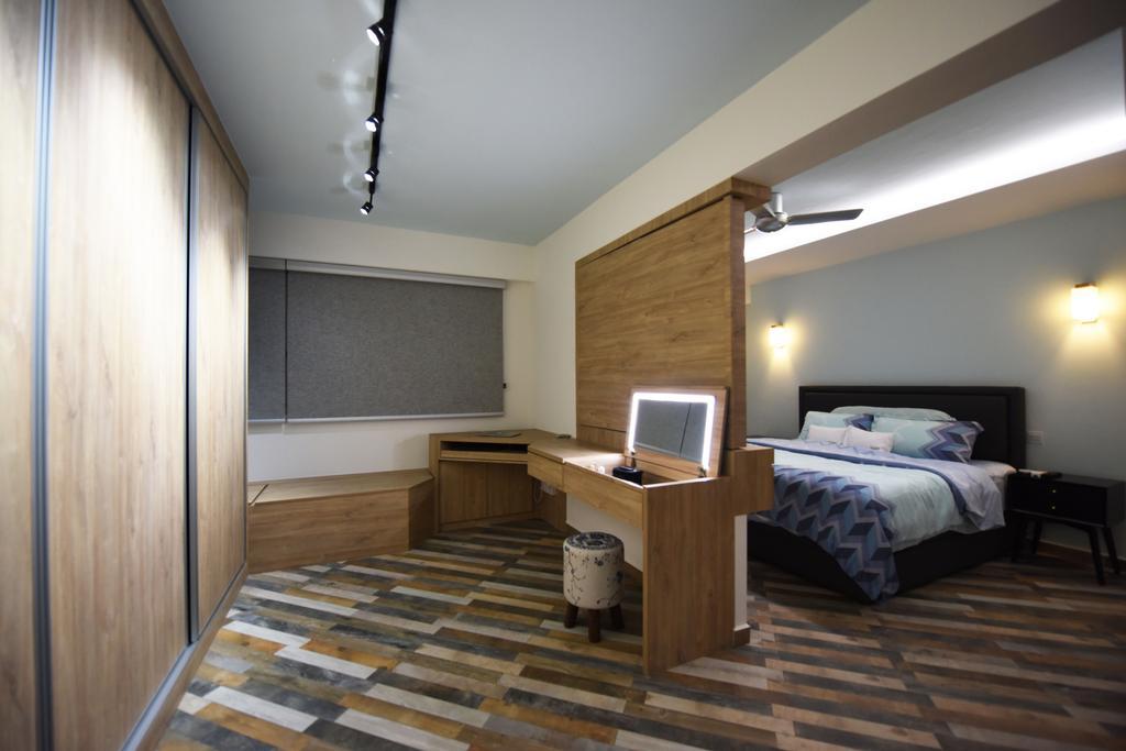 Eclectic, HDB, Bedroom, Boon Lay Avenue (Block 218B), Interior Designer, Starry Homestead, Indoors, Interior Design, Room