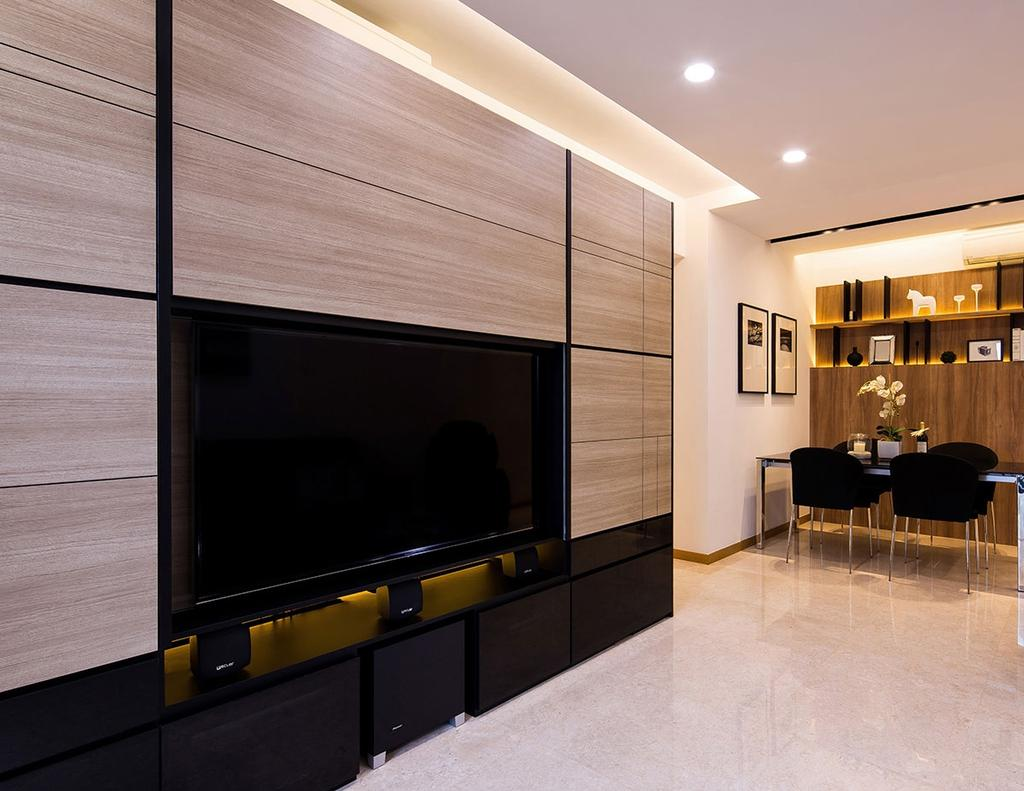 Modern, Condo, Living Room, Nin Residence, Interior Designer, Icon Interior Design, Flooring, Dining Table, Furniture, Table, Indoors, Interior Design, Electronics, Lcd Screen, Monitor, Screen