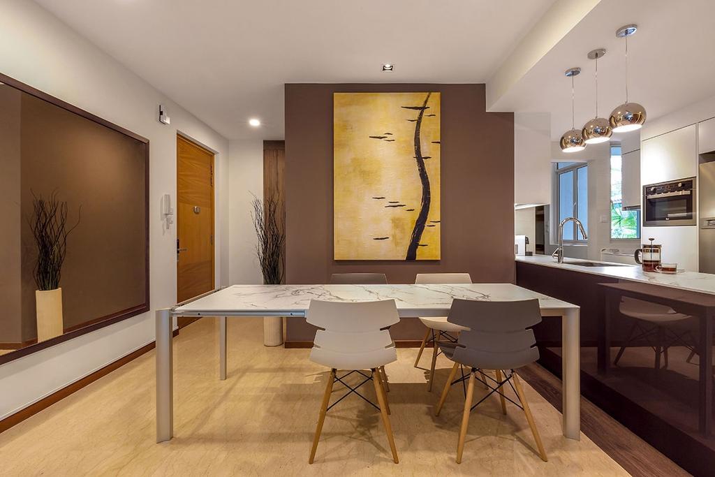 Minimalistic, Condo, Dining Room, The Sunglade, Interior Designer, Icon Interior Design, Contemporary, Dining Table, Furniture, Table, Indoors, Room, Interior Design