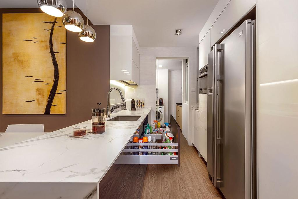 Minimalistic, Condo, Kitchen, The Sunglade, Interior Designer, Icon Interior Design, Contemporary, Sink