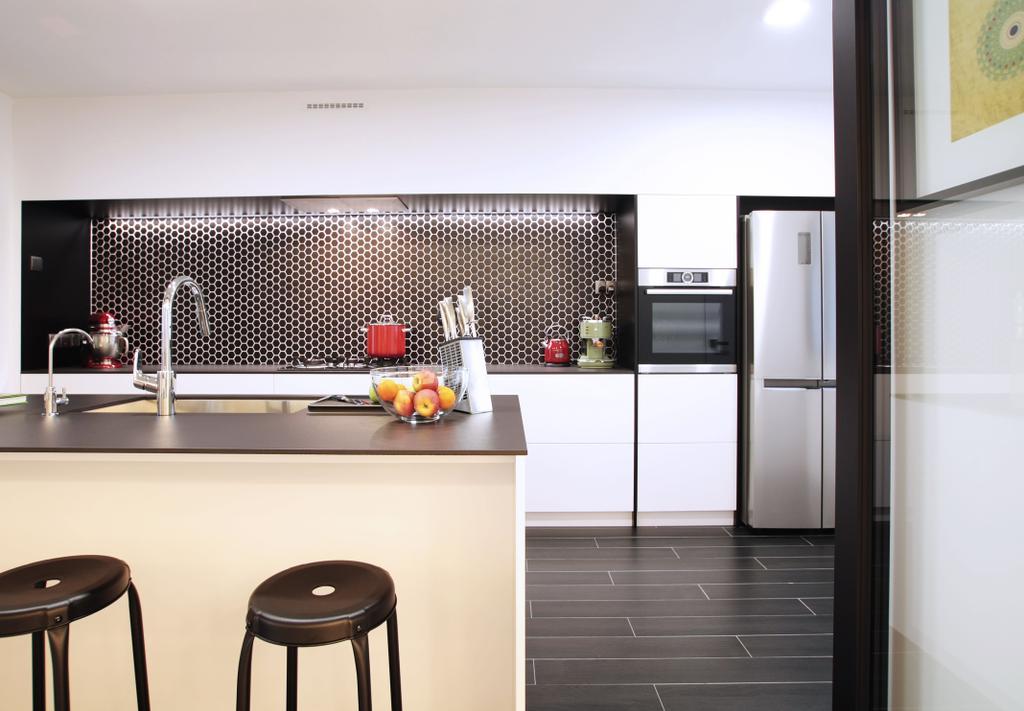 Modern, HDB, Dining Room, Pasir Ris, Interior Designer, Intrigue-d Design Consultancy, Contemporary, Bar Stool, Furniture, Chair